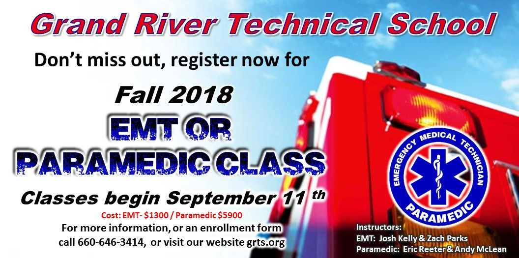 Emt Paramedic Training At The Grand River Vocational Technical